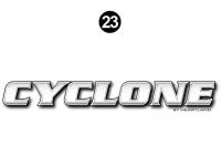 Cyclone - 2012 Cyclone FW-Fifth Wheel Toyhauler-Blue - Side Cyclone Legend