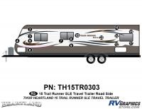 Trail Runner - 2015 Trail Runner TT-Travel Trailer - 15 Piece 2015 Trail Runner TT Roadside Graphics Kit