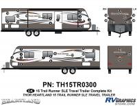 Trail Runner - 2015 Trail Runner TT-Travel Trailer - 41 Piece 2015 Trail Runner TT Complete Graphics Kit
