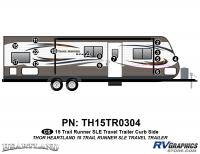 Trail Runner - 2015 Trail Runner TT-Travel Trailer - 15 Piece 2015  Trail Runnerunner TT Curbside Graphics Kit
