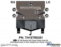 Trail Runner - 2015 Trail Runner TT-Travel Trailer - 8 Piece 2015 Trail Runner TT Front Graphics Kit