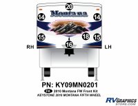 Montana - 2010 Montana FW-Fifth Wheel - 7 Piece 2010 Montana FW Front Graphics Kit