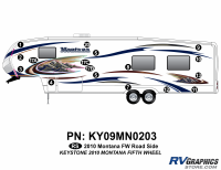 Montana - 2010 Montana FW-Fifth Wheel - 17 Piece 2010 Montana FW Roadside Graphics Kit