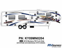 Montana - 2010 Montana FW-Fifth Wheel - 17 Piece 2010 Montana FW Curbside Graphics Kit