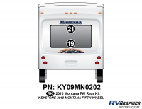Montana - 2010 Montana FW-Fifth Wheel - 2 Piece 2010 Montana FW Rear Graphics Kit