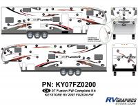 Fuzion - 2007 to 2009 Fuzion FW-Fifth Wheel - 2007 Fuzion FW Complete Graphics Kit