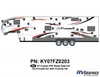 Fuzion - 2007 to 2009 Fuzion FW-Fifth Wheel - 2007 Fuzion FW Roadside Graphics Kit