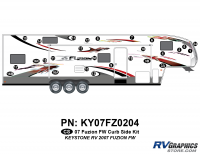 Fuzion - 2007 to 2009 Fuzion FW-Fifth Wheel - 2007 Fuzion FW Curbside Graphics Kit