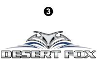 Desert Fox - 2007-2008 Desert Fox FW-Fifth Wheel - Lg Desert Fox logo
