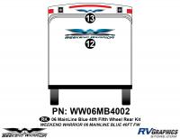 2 piece 2006 Warrior Mainline 40' FW Rear Graphics Kit