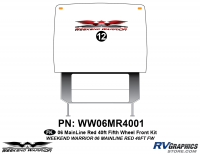 Weekend Warrior Mainline - 2006-2007 Weekend Warrior Mainline FW-40' Fifth Wheel Red - 1 piece 2006 Warrior Mainline Red 40' FW Front Graphics Kit