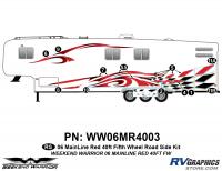 12 piece 2006 Warrior Mainline Red 40' FW Roadside Graphics Kit