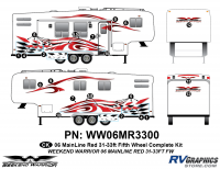 Weekend Warrior Mainline - 2006-2007 Weekend Warrior Mainline FW 31-33' Fifth Wheel Red - 19 piece 2006 Warrior Mainline Red 31-33' FW  Complete Graphics Kit