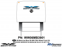 Weekend Warrior Mainline - 2006-2007 Weekend Warrior Mainline FW-35-39' Fifth Wheel Blue - 1 piece 2006 Warrior Mainline 35-39' FW Front Graphics Kit