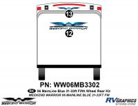 2 piece 2006 Warrior Mainline 31-33' FW Rear Graphics Kit