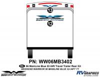 2 piece 2006 Warrior Mainline 32-34' TT Rear Graphics Kit