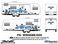 17 piece 2006 Warrior Mainline 26-30' TT Complete Graphics Kit