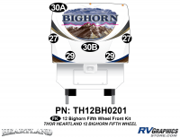 Bighorn - 2012 to 2013 Bighorn FW-Fifth Wheel - 2012 Bighorn Fifth Wheel Front Graphics Set