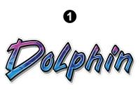 Dolphin - 1999 Dolphin MH-Motorhome - Rear Dolphin logo