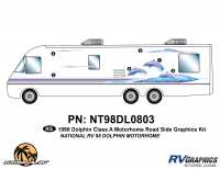 6 Piece 1998 Dolphin MH Roadside Graphics Kit
