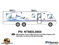 Dolphin - 1998 Dolphin MH-Motorhome - 6 Piece 1998 Dolphin MH Curbside Graphics Kit