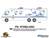 7 Piece 1999 Dolphin MH Roadside Graphics Kit