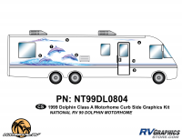 Dolphin - 1999 Dolphin MH-Motorhome - 7 Piece 1999 Dolphin MH Curbside Graphics Kit