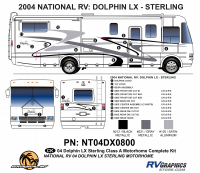 Dolphin - 2004 Dolphin LX Sterling  - 2004 Dolphin LX Sterling Complete Graphics Kit