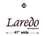 Laredo - 2012 Laredo TT-Travel Trailer - Custom Size Front Laredo Logo (not part of kit)