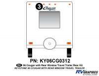 Cougar - 2006-2008 Cougar TT-Travel Trailer OEM Colors with Rear Window - 2006 Cougar Travel Trailer Rear Kit