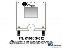 Cougar - 2006-2008 Cougar TT-Travel Trailer OEM Colors - 2006 Cougar Travel Trailer Rear Kit