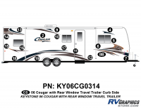 Cougar - 2006-2008 Cougar TT-Travel Trailer OEM Colors with Rear Window - 2006 Cougar Travel Trailer Right Side Kit
