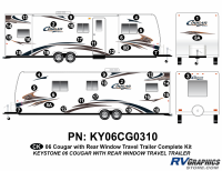Cougar - 2006-2008 Cougar TT-Travel Trailer OEM Colors with Rear Window - 2006 Cougar Travel Trailer RW Complete Kit