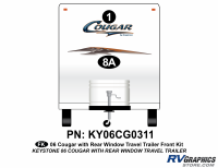 Cougar - 2006-2008 Cougar TT-Travel Trailer OEM Colors with Rear Window - 2006 Cougar Travel Trailer Front Kit