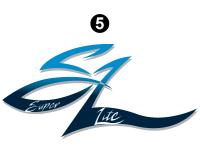 SuperLite - 2002 SuperLite TT-Travel Trailer - Front Rear SuperLite logo