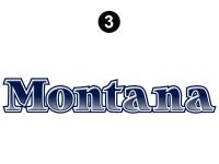 Montana - 2006-2007 Montana Fifth Wheel - Rear Montana Logo