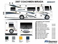 42 Piece 2007 Coachmen Mirda Class A Motorhome Graphics Complete Kit - Image 2