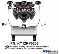 5 Piece 2012 Keystone Raptor Velocity Partial Front Graphics Kit - Image 2
