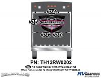 Road Warrior - 2012-2013 Road Warrior FW-Fifth Wheel Toyhauler - 2012 Heartland Road Warrior Rear Graphics Kit