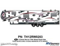 Road Warrior - 2012-2013 Road Warrior FW-Fifth Wheel Toyhauler - 2012 Heartland Road Warrior Roadside Graphics Kit