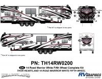 Road Warrior - 2014 Road Warrior FW-Fifth Wheel-White Version - 82 Piece 2014 Road Warrior FW-WHITE Complete Graphics Kit