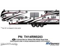 Road Warrior - 2014 Road Warrior FW-Fifth Wheel-White Version - 29 Piece 2014 Road Warrior FW-WHITE Roadside Graphics Kit
