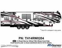 Road Warrior - 2014 Road Warrior FW-Fifth Wheel-White Version - 29 Piece 2014 Road Warrior FW-WHITE Curbside Graphics Kit