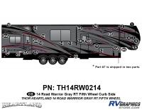 Road Warrior - 2014 Road Warrior FW-Fifth Wheel-Gray Version - 30 Piece 2014 Road Warrior FW-GRAY Curbside Graphics Kit