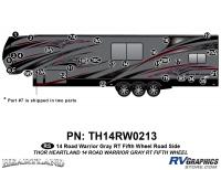 Road Warrior - 2014 Road Warrior FW-Fifth Wheel-Gray Version - 30 Piece 2014 Road Warrior FW-GRAY Roadside Graphics Kit