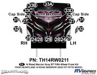 Road Warrior - 2014 Road Warrior FW-Fifth Wheel-Gray Version - 20 Piece 2014 Road Warrior FW-GRAY Front Graphics Kit