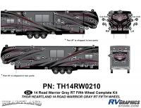 Road Warrior - 2014 Road Warrior FW-Fifth Wheel-Gray Version - 84 Piece 2014 Road Warrior FW-GRAY Complete Graphics Kit