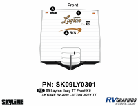 Layton - 2009 Layton Joey TT-Travel Trailer - 2009 Layton Joey Lite TT Front Graphics Kit