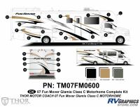 Fun Mover - 2007 Fun Mover Class C MH Glamis Edition - 35 Piece 2007 Fun Mover Glamis Edition Complete Graphics Kit