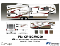 Cameo - 2010 Cameo  FW-Fifth Wheel - 25 Piece 2010 Cameo FW Complete Graphics Kit